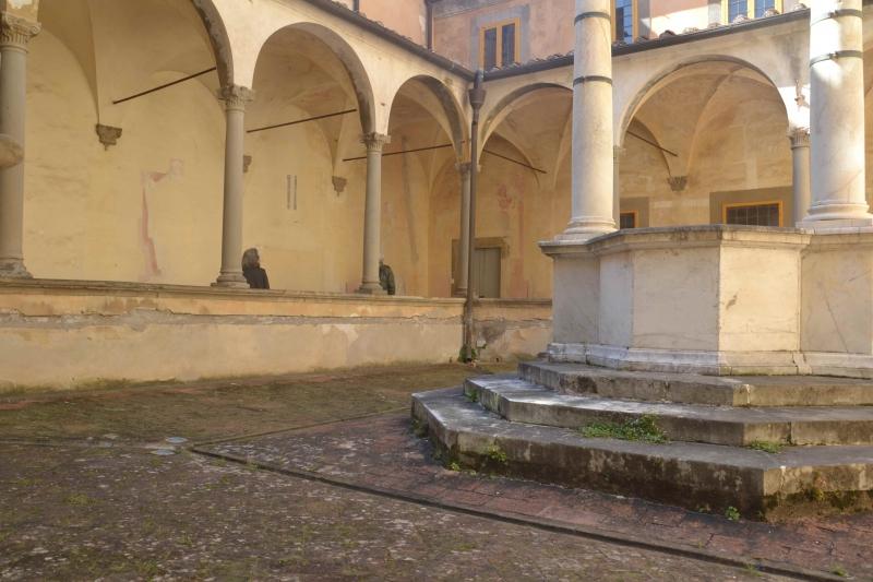 Il Chiostro prima del restauro 4 ©CertosadiCalci-MiBACT