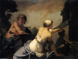 Jean-Baptiste-Regnault-The-Origin-of-Painting-