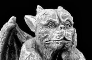 Gargoyle gotico, dettaglio