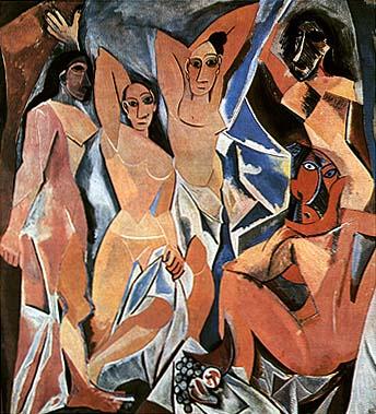 P. Picasso, Les demoiselles d'Avignon, 1907