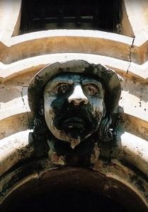 Palazzo Bertini, dettaglio, il signore