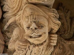 Mascherone barocco, dettaglio