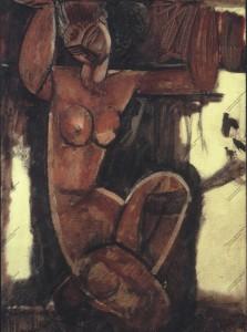 Cariatide, Modigliani, Olio su tela