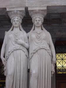Particolare della coppia di Cariatidi, Parlamento, Vienna