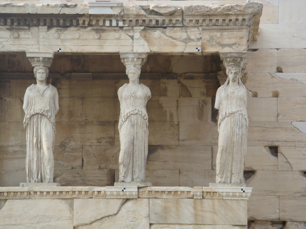 Particolare delle Cariatidi, Eretteo, Acropoli di Atene