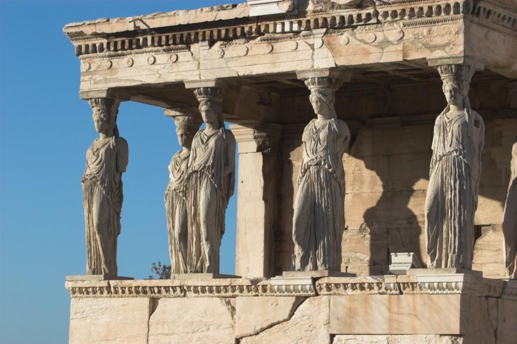 Eretteo, loggia delle cariatidi, acropoli di atene