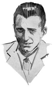 G. Micheletti in un disegno di Roberto Lemmi