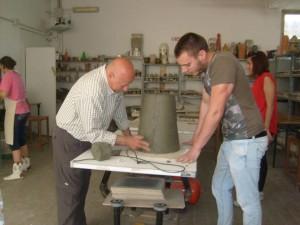 Il laboratorio di ceramica dell'associazione