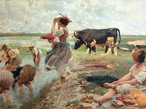 Ettore Tito, Le mondine in Polesine (1885)
