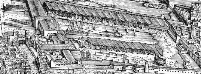 Torre Guelfa, vista dall'interno degli Arsenali Repubblicani