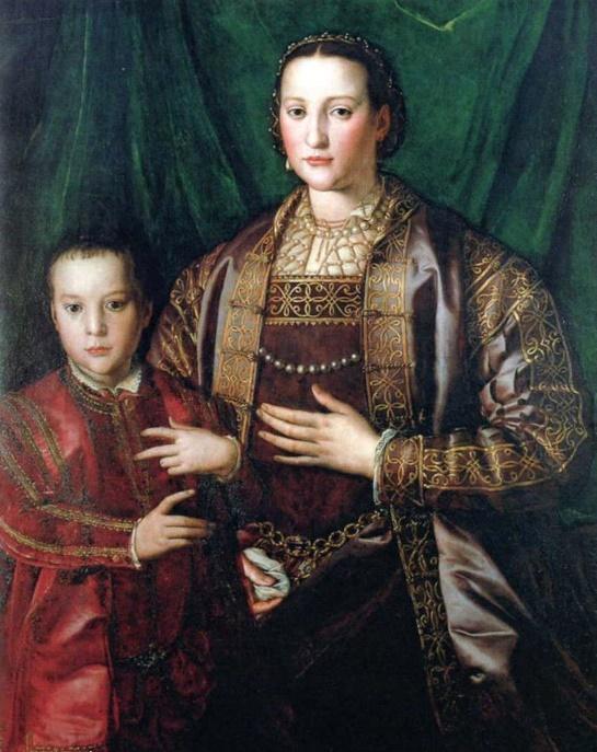 A. Bronzino, Eleonora e il figlio Francesco I, 1549. Pisa, Museo Nazionale di Palazzo Reale