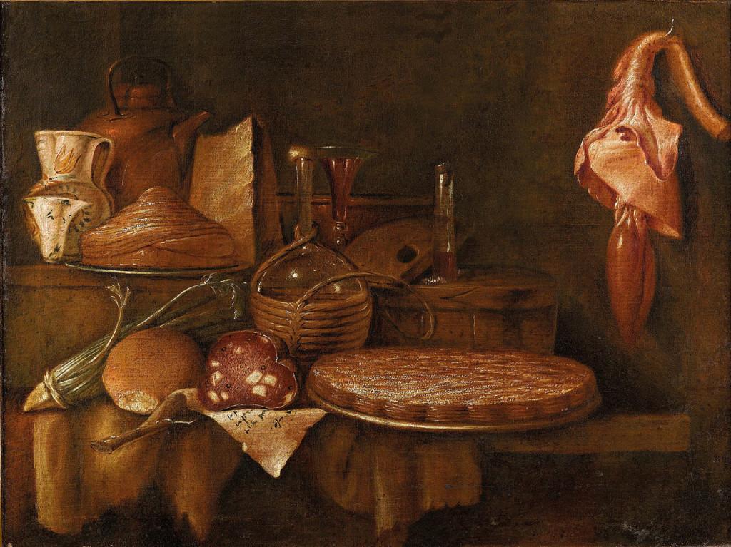 GIAN_DOMENICO_VALENTINO,_Valentini_(Roma_1639-_7_dicembre_1715),_Natura_morta_di_cibo_su_un_tavolo