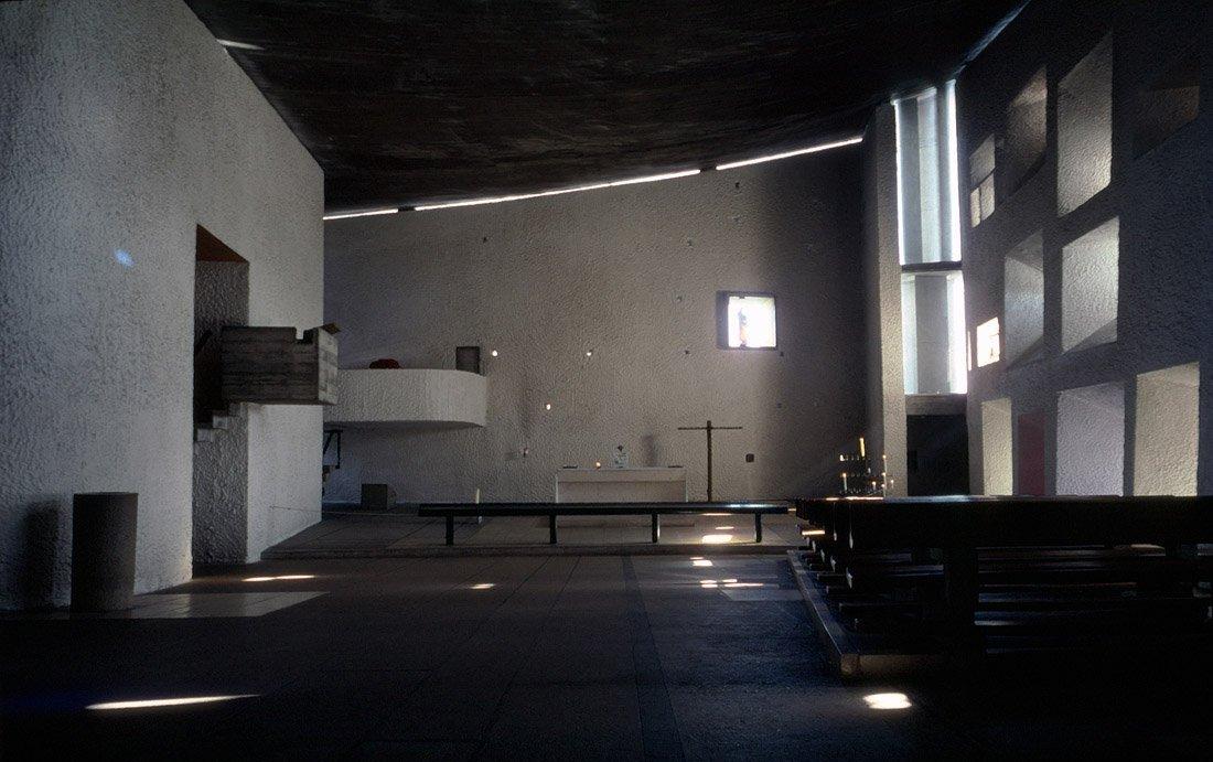Le Corbusier, Cappella di Ronchamp (1955),