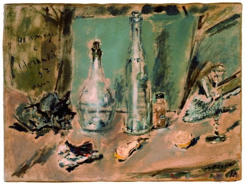 Filippo De Pisis, Hommage à Morandi, 1937, olio su tela, 54x72, Diocesi di Piacenza Bobbio