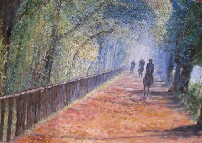 Luongo Mattino al Parco(olio su tela 35X50)_web