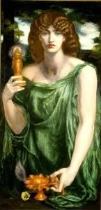 Mnemosine, Dante Gabriel Rossetti