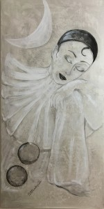 Simoneschi Pierrot- acrilico su tela 50 x 100_web