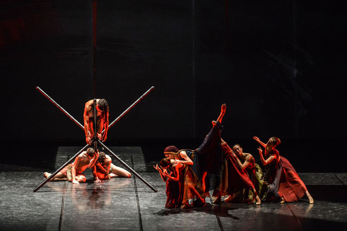 "RBR dance company in ""The Man"" (the Passion of the Christ) - cooproduction with Camerata Musicale Barese - Choreography by Cristina Ledri, Cristiano Fagioli - Music by J. Debney, S. Jablonsky, C. Armstrong, D. Todesco, H. Takkenberg, P. Gabriel - Voice Paolo Valerio."