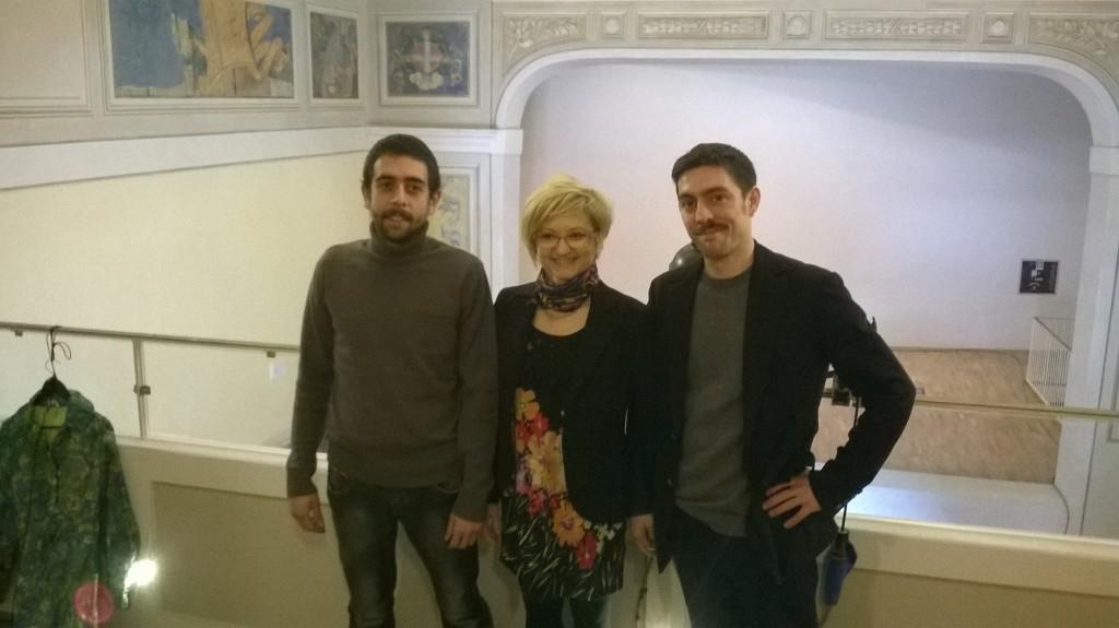 Da sinistra Salvatore Bacciu, Paola Maccario, Gabriele De Luca