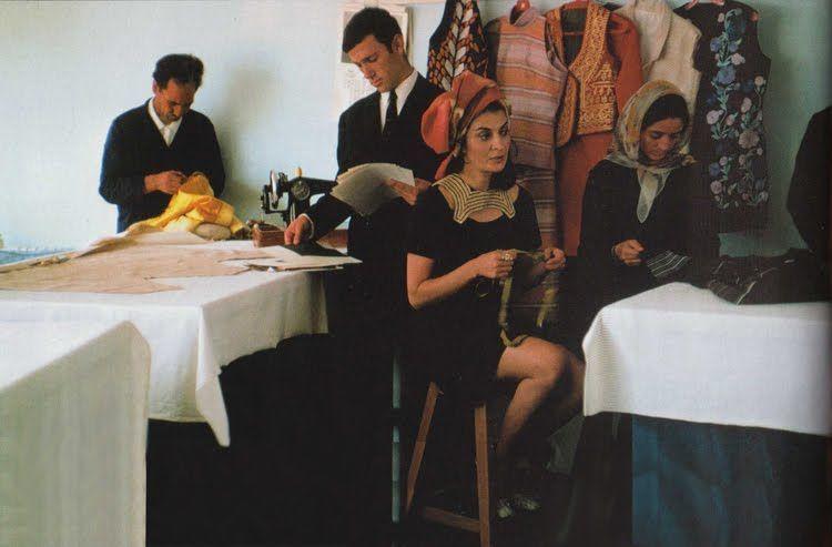 fig.4 Safia Terzì nel suo studio 1969
