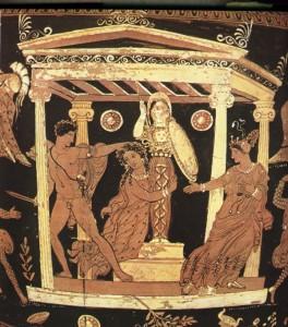 Rappresentazione dello stupro di Cassandra