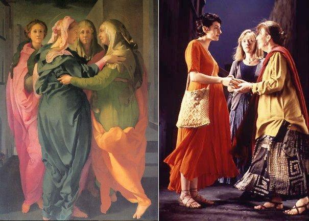 Jacopo Carucci detto il Pontormo, La Visitazione e Bill Viola, The Greeting, 1995