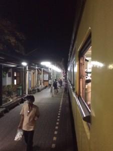 Treno notturno per Bangkok.