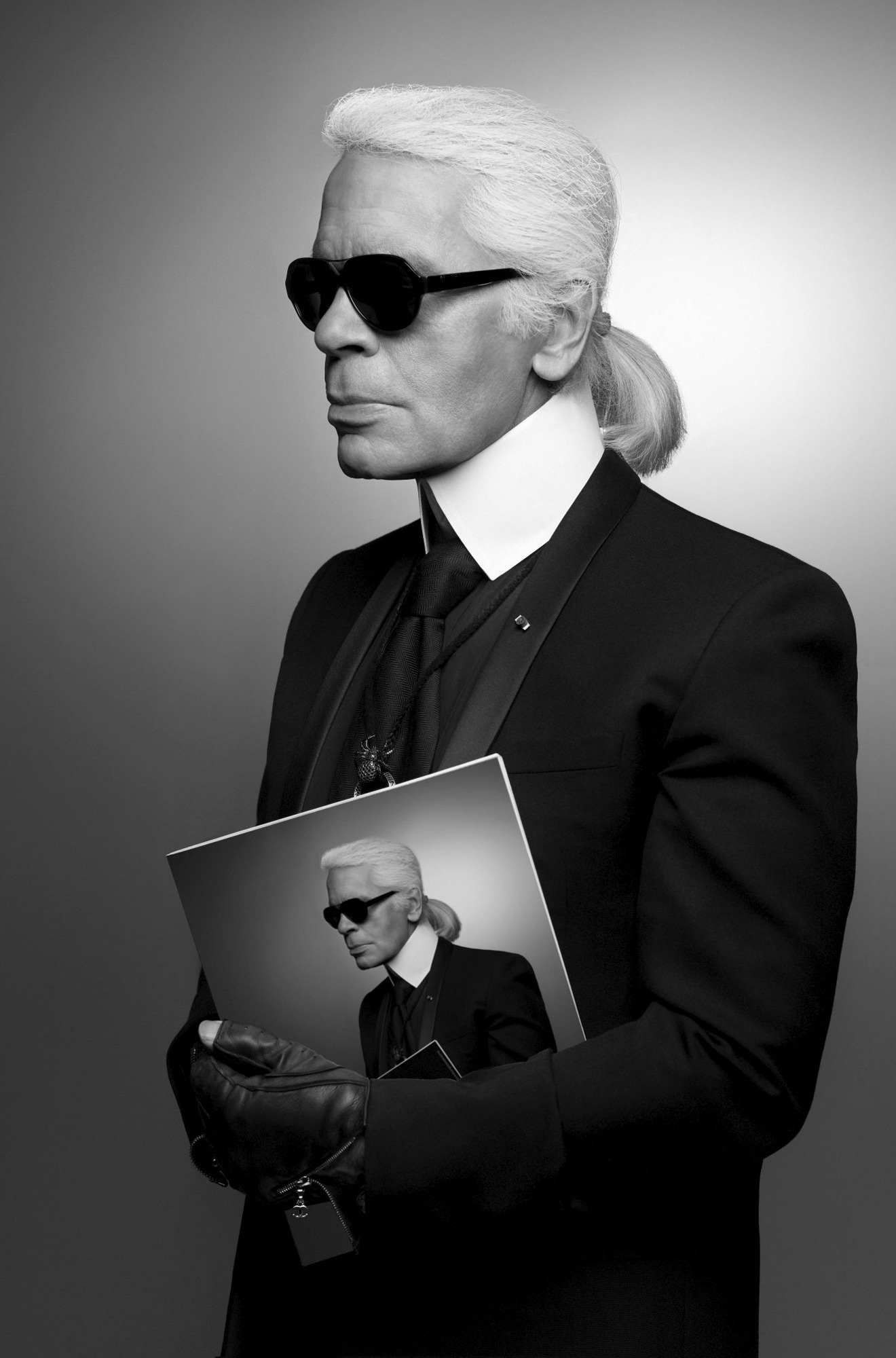 K.Lagerfeld, autoritratto © Photography by Karl Lagerfeld