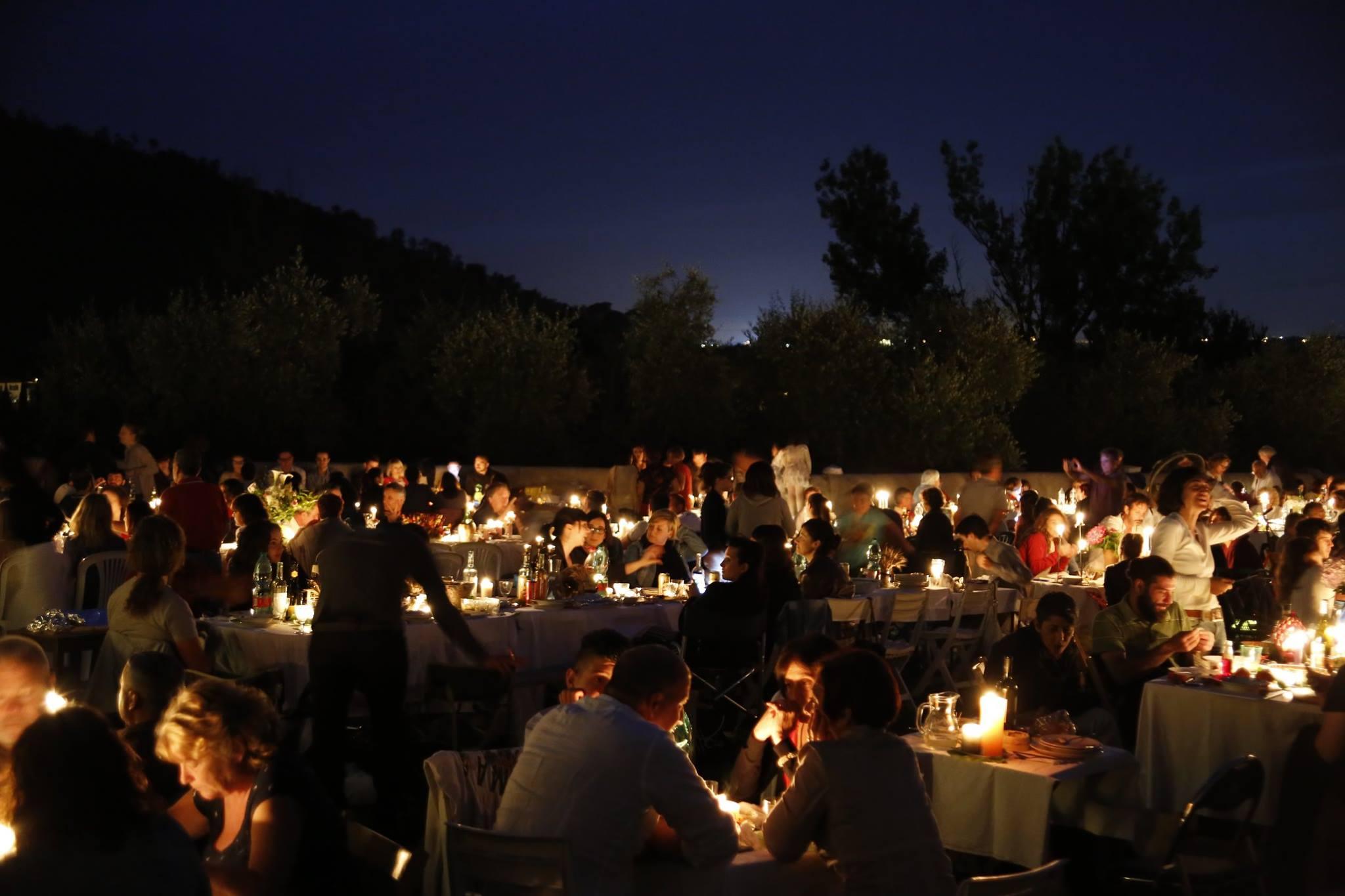 cena sotto le stelle