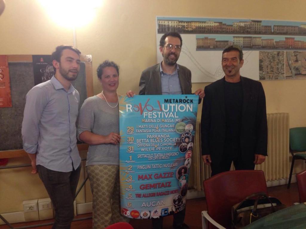 Da sinistra: Alessio Gallotta, Elena Mosti, Andrea Ferrante, Nicola Zaccardi