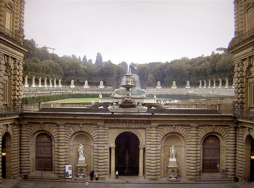 Palazzo Pitti, vista sul Giardino di Boboli. fonte: