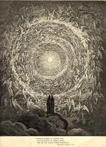 Dante e Beatrice rivolti verso l'Empireo (Gustave Doré)