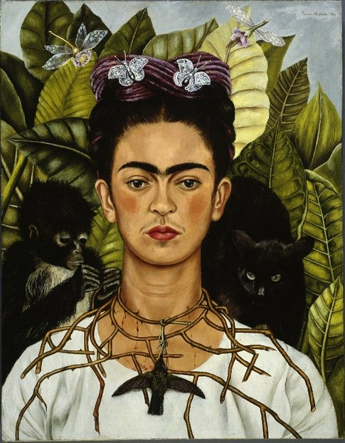Frida Kahlo. Autoritratto con collana di spine© Banco de México Diego Rivera & Frida