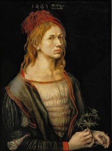 Durer, Autoritratto con fiore d'eringio