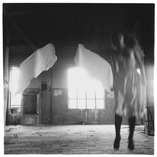 Francesca Woodman, From Angel series, Rome, 1977 © Courtesy George and Betty Woodman