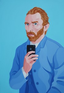 Self-Shot-of-Vincent-Van-Gogh-2013-acrilico-su-tela-100x70-Courtesy-Galleria-Contini