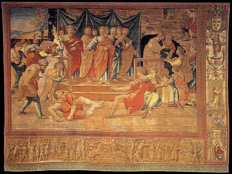 Arazzo, Bottega di Pieter van Aelst su disegno di Raffaello Sanzio, 1515-1519
